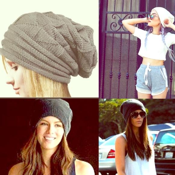 Accessories - LAST 1!!!!!!!!!! Grey Slouchy Beanie Hat
